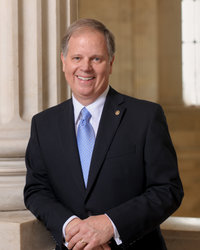Official portrait of senator Doug  Jones