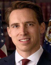 Official portrait of senator Josh  Hawley