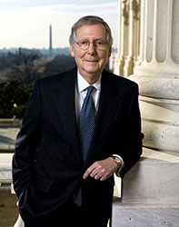 Official portrait of senator Mitch  McConnell